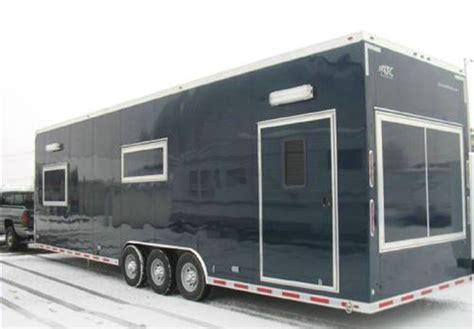 custom built toy hauler mobile field office advantage trailer