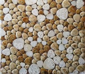 Pebble Porcelain Mosaic Tile Backsplash