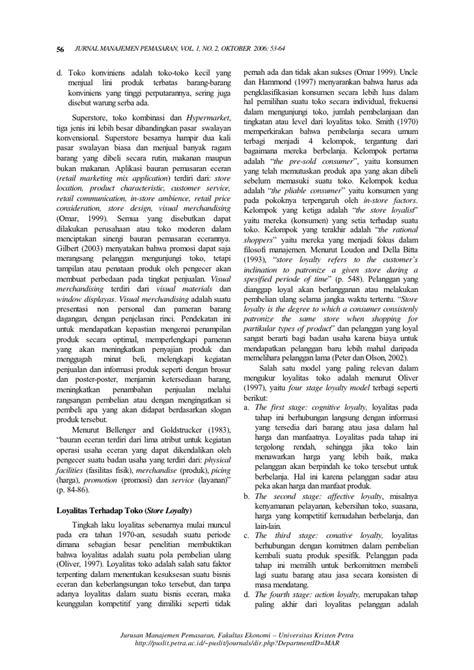 Ekspektasi Pelanggan Dan Aplikasi Bauran Pemasaran (Dyah