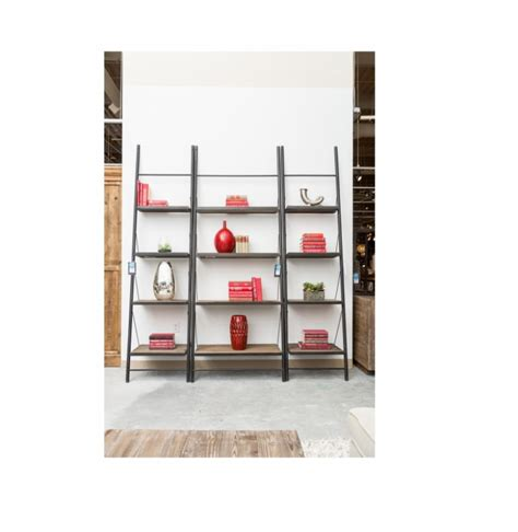 Metal Leaning Bookcase by Leaning Metal And Wood Lennox Bookcase Reside Furnishings