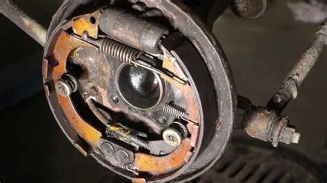 replace brake shoes toyota corollafull rear drum