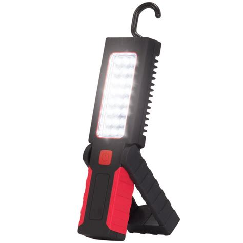 battery led work light globe electric 3 battery led integrated red 2 in 1 work