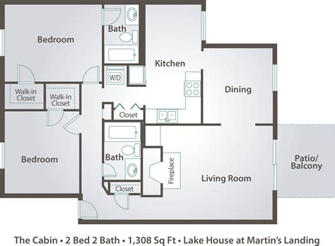 two bedroom cabin floor plans 2 bedroom apartment floor plans pricing the lake house