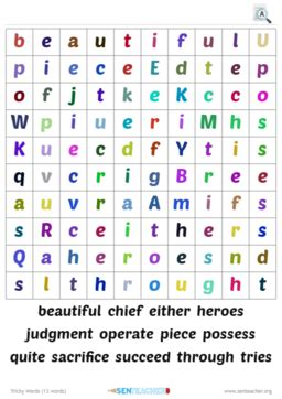 sen teacher literacy printables