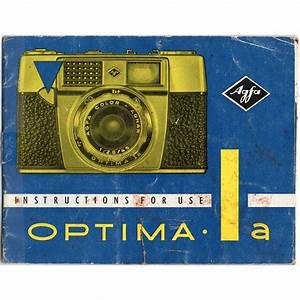 Agfa Optima 1a 1 A Instruction Manual Listing In The