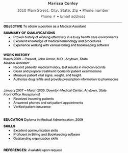 medical assistant resume the resume template site With free medical assistant resume templates