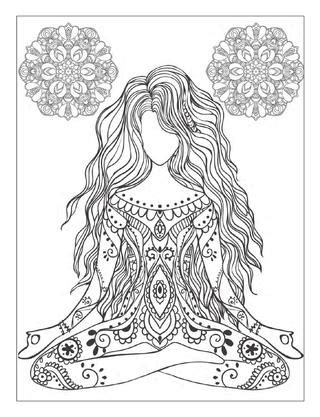 Yoga and meditation coloring book for adults: With Yoga Poses and Mandalas | Graphics & design