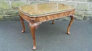 quality figured walnut coffee table c1920 har la91663 With good quality coffee tables