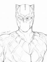 Panther Coloring Pages Marvel Drawing Panthers Printable Football Getcolorings Sketch Getdrawings Print Template sketch template
