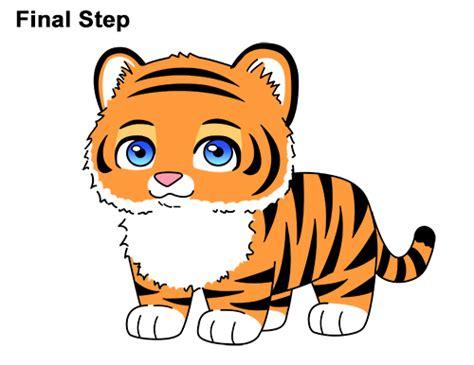 draw  tiger cartoon