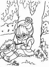 Coloring Reading Tree Under Rainbow Brite Drawing Printable Colors Luna Popular Getdrawings Coloringhome sketch template