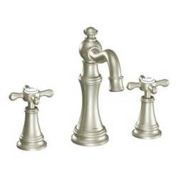 moen kitchen faucet brushed nickel brushed nickel two handle high arc wall mount bathroom faucet ts42114bn from moen