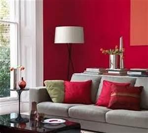 inspiration deco salon gris et rouge With deco gris et rouge salon