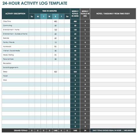 ic  hour activity log template printable   ryan