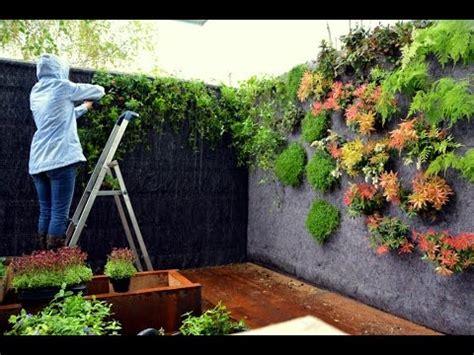 plantacion de  jardin vertical la paisajista