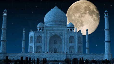 Full Moon Sky Wallpaper Beautiful Taj Mahal Pictures With Relaxing Music Youtube