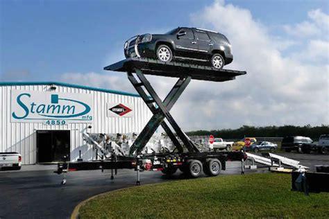 automotive trade show high lift display trailer
