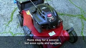 How To Fix A Toro Sr4 Lawnmower That Runs Poorly