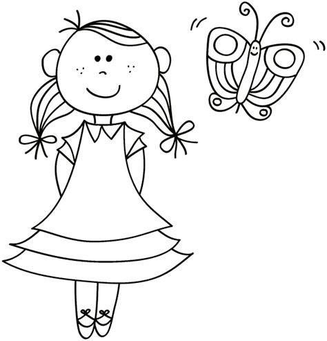 Kleurplaat Meisje Met Jurk by Kleurplaat Meisje Met Vlinder