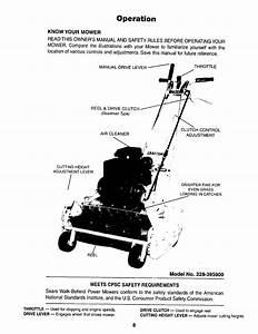 Craftsman 328395900 User Manual Lawnmower Power Reel