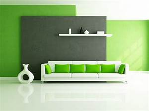 Green theme interior design for new home