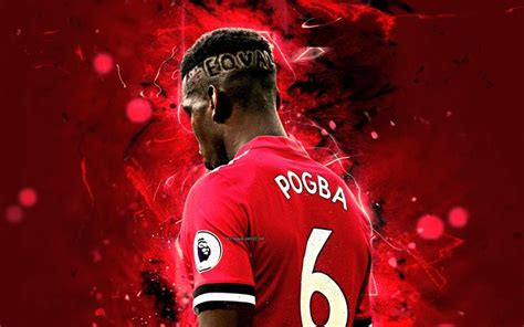 Download wallpapers Paul Pogba, back view, Manchester ...