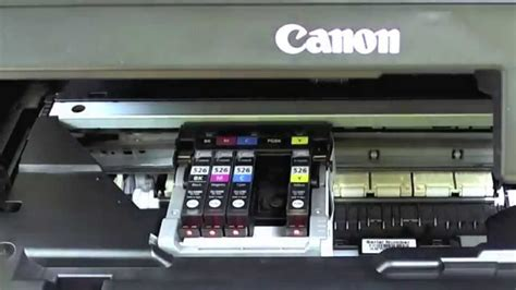 canon mg changing  cartridges youtube