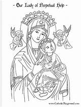 Lady Perpetual Help Guadalupe Catholic Coloring Pages June Clipart Saints Fatima Saint 27th Drawings Mary Crafts Holy Cross Adult Sheets sketch template