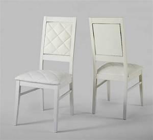 Chaise lux laque blanc for Meuble salle À manger avec chaise de sejour