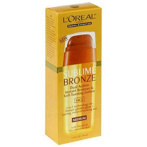 face tanning l l 39 oreal sublime bronze dual action bronzer and self