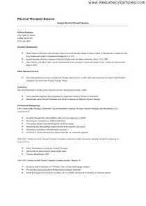 resume for physical therapy assistant pta resume sles resume format 2017