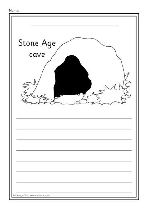 prehistoric britain colour  write worksheets