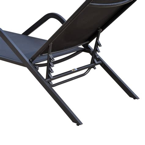 reclining outdoor lounge chair outsunny outdoor patio reclining chaise lounge chair