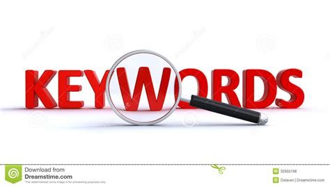 Keyword Search Stock Illustration Image Of Seek, Lens