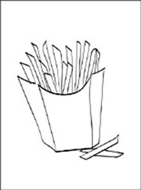 disegno  patatine fritte da colorare disegni da colorare gratis