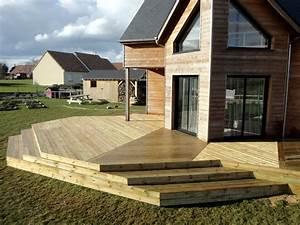 Bois Autoclave Classe 4 : pose de terrasse en pin rouge du nord m le bois ~ Premium-room.com Idées de Décoration