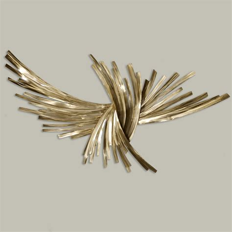 infinity gold metal wall sculpture