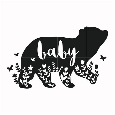 Make this baby's first christmas ornament with a free svg cut file included! Baby bear svg, mother day svg, dxf, eps, png digital file ...