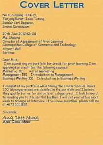 portfolio With how to write a cover letter for a college portfolio