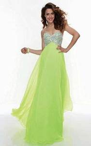 Neon Green Strapless Mini Dress flaredress partydress