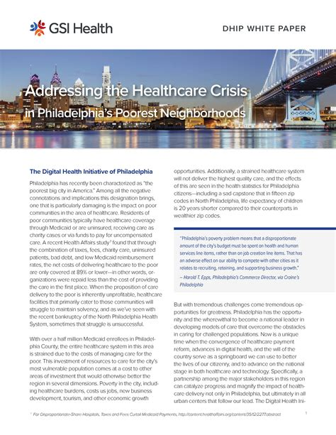 digital health initiative  philadelphia white paper