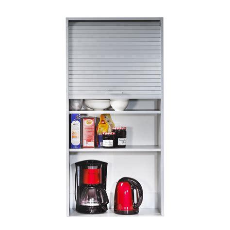 meuble de rangement a rideau coulissant el 233 ment de rangement pour cuisine avec rideau coulissant h123 6cm cook aluminium 60cm