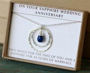 45th anniversary gift 45th wedding anniversary gift sapphire for 45th wedding anniversary gift