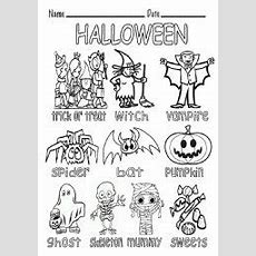 Halloween Vocabulary  Esl Worksheet By Elenarobles29