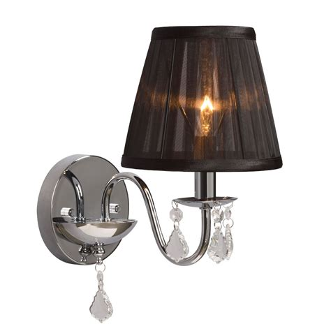 wall sconce shade hton bay chrome wall sconce with black shade and