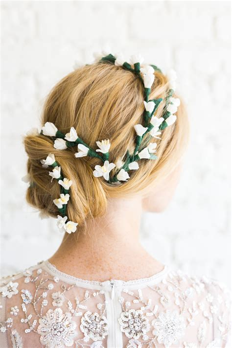 diy bridal hair band paper flower bridal hair the house that lars built