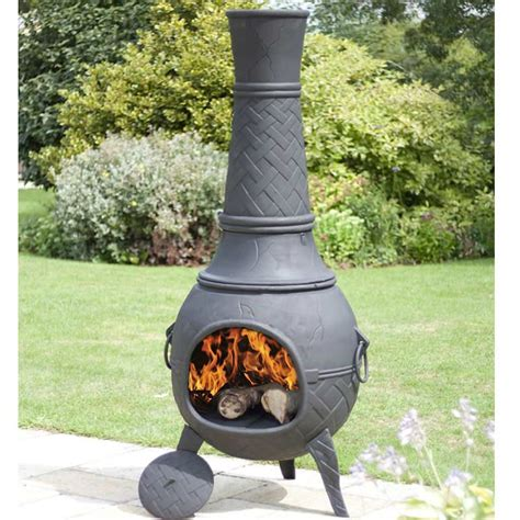 Chiminea Clay Or Iron - la hacienda cast iron mega chimenea 205cm on sale fast