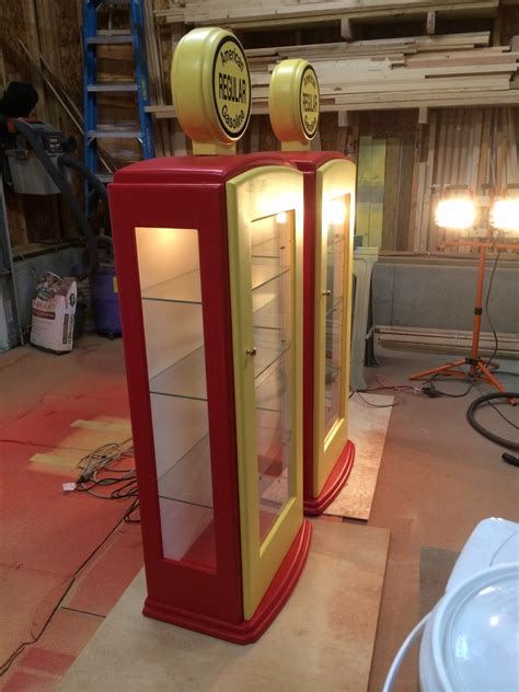 ana white gas pump curio cabinet diy projects