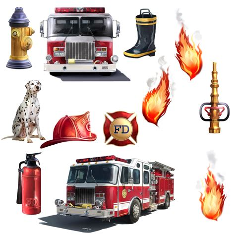 amazoncom fire truck firefighter room decor giant wall