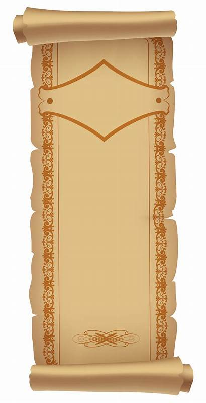 Paper Ancient Clipart Deco Scrolled Scrolls Transparent